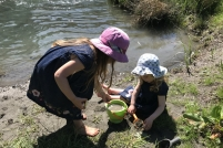 Playing by the Dosewallips river
