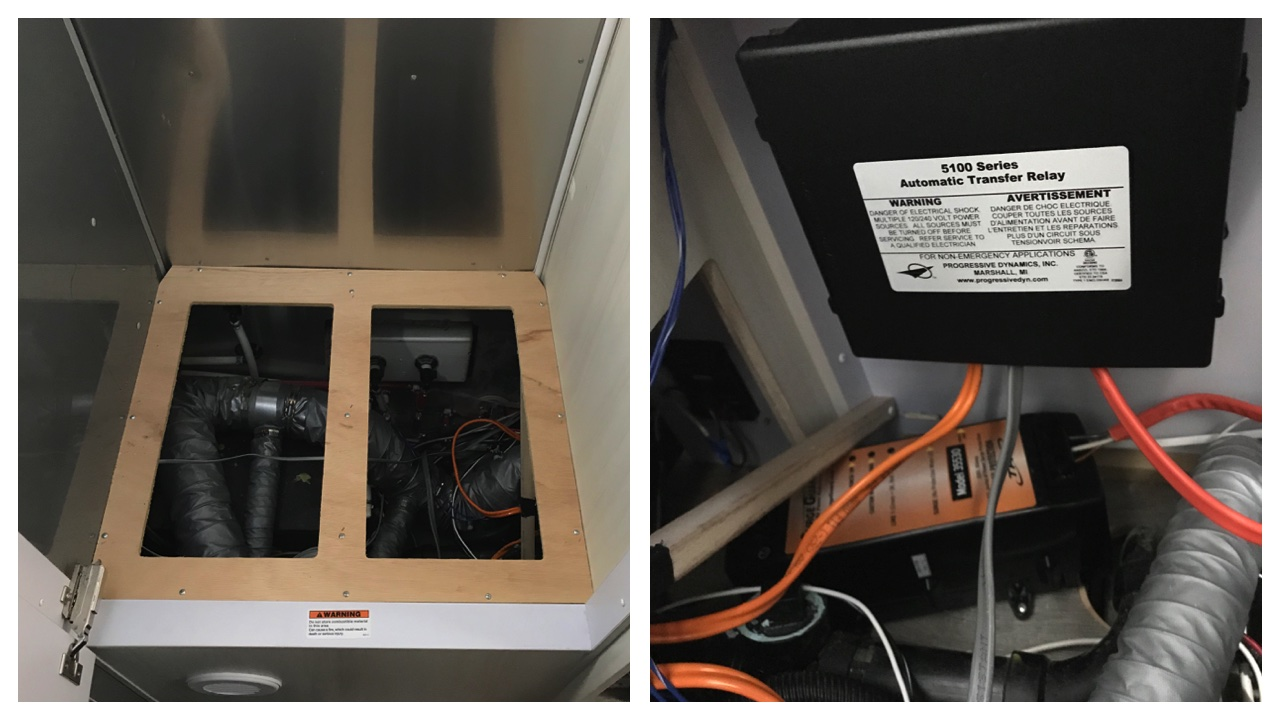 Airstream Electrical System Upgrade Phase I Wacky Wanderers Wiring Diagram 110v Automatic Transfer Switch And Surge Protector Installed Under Closet